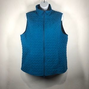Nomadic Traders blue quilted vest size large